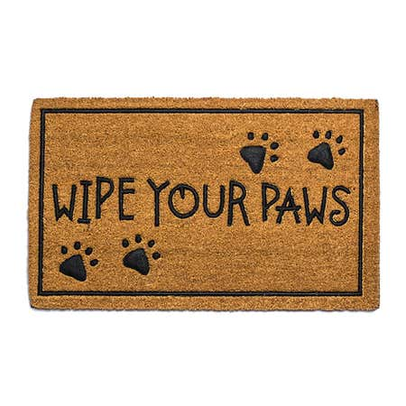 91273_KSP_Casual_'Wipe_Your_Paws'_Coir_Doormat__Natural_Black