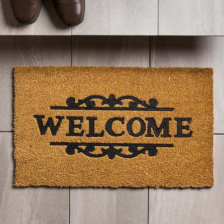91275_KSP_Casual_'Welcome_Scroll'_Coir_Doormat__Natural_Black