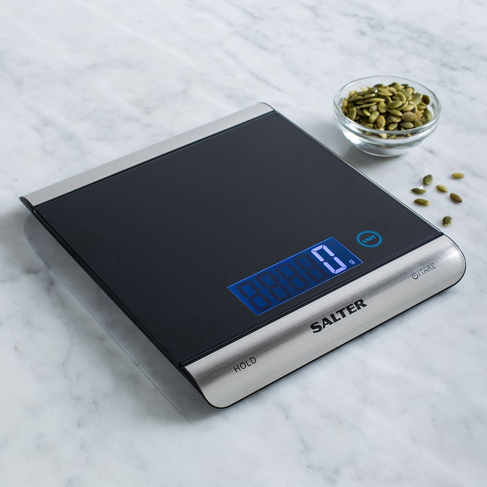 Salter High Capacity Digital Kitchen Scale (Black/Stainless Steel)