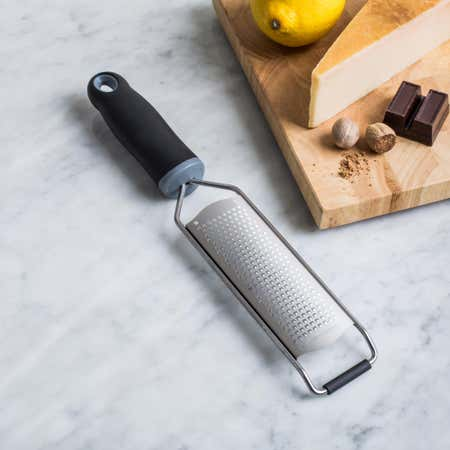 91457_KSP_Culinary_'Acid_Etched'_Hand_Grater_Fine__Black_Stainless_Steel
