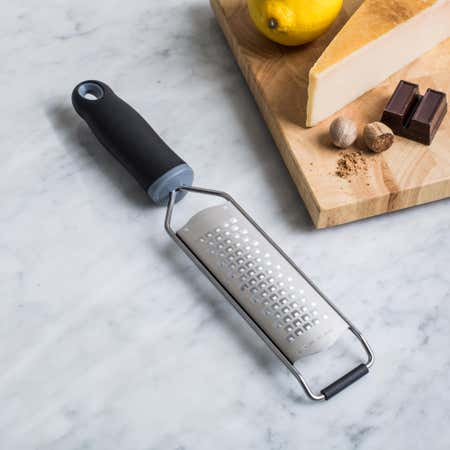 91458_KSP_Culinary_'Acid_Etched'_Hand_Grater_Medium__Black_Stainless_Steel