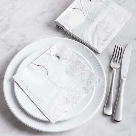 91516_Harman_3_Ply_'Carrara'_Paper_Napkin__White
