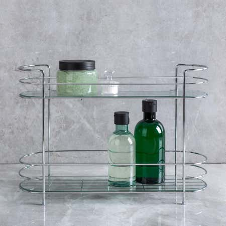 91600_KSP_Spa_2_Tier_Shelf_with_Glass__Chromewire