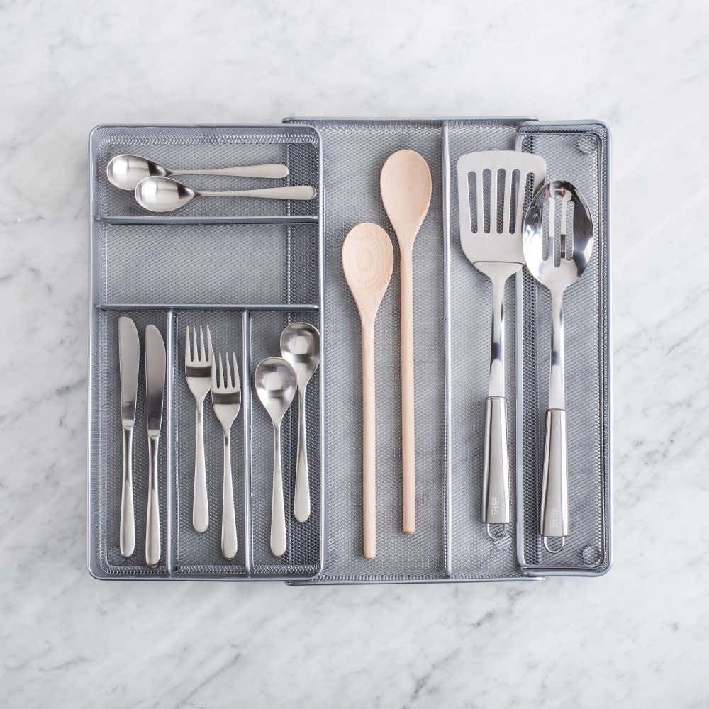 91604_KSP_Mesh_Expandable_Cutlery_Tray__Silver