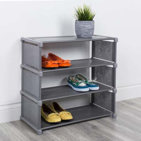 91635_KSP_Softstor_'4_Level'_Fabric_Shoe_Rack__Grey