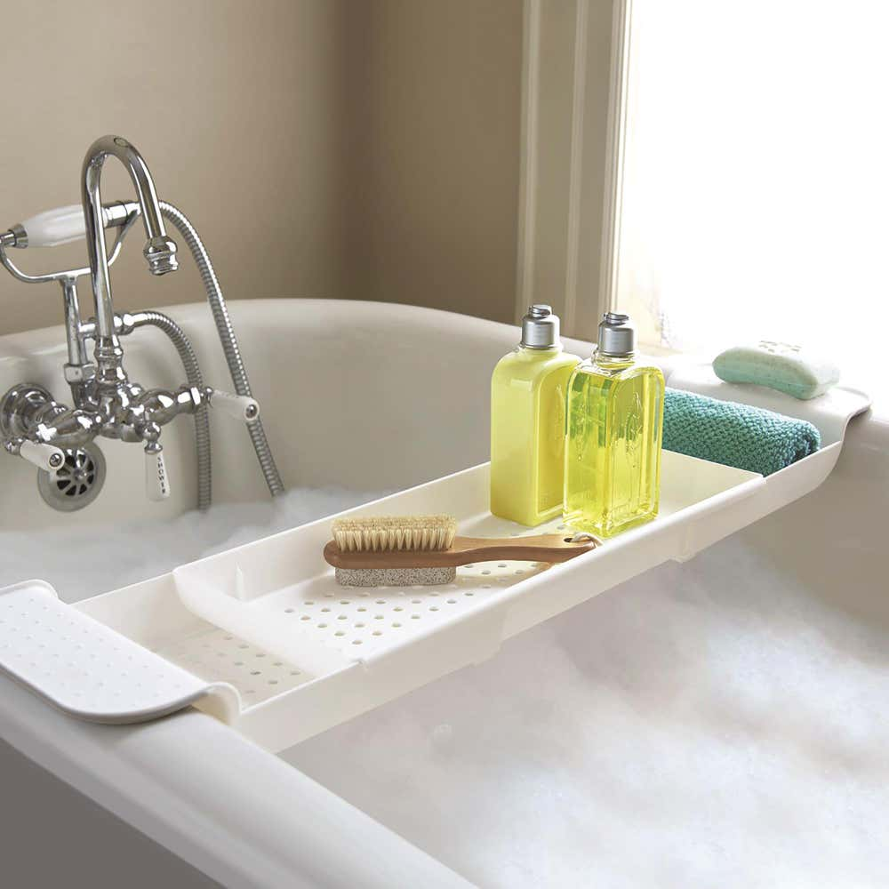 91753_Made_Smart_Bath_Tidy_Expanding_Bath_Tray__White