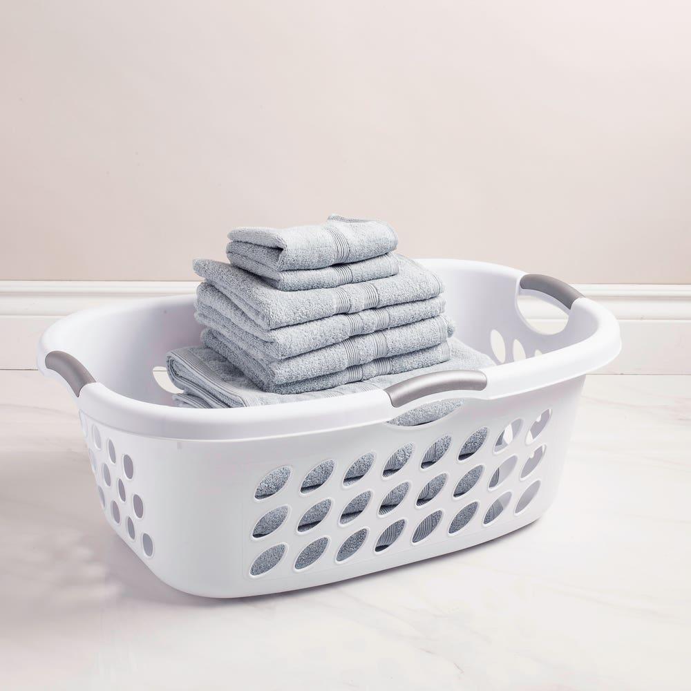 Sterilite Bushel Ultra Plastic Laundry Basket  (White)