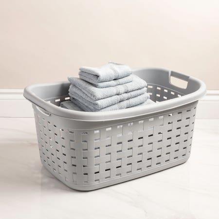 91778_Sterilite_Weave_Plastic_Laundry_Basket__Grey