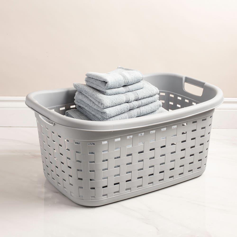 Sterilite Weave Plastic Laundry Basket (Grey)