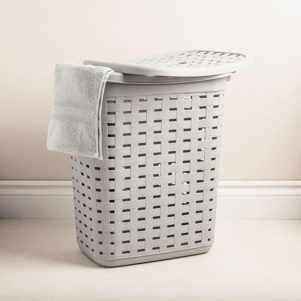 Sterilite Weave Plastic Laundry Hamper (Grey)