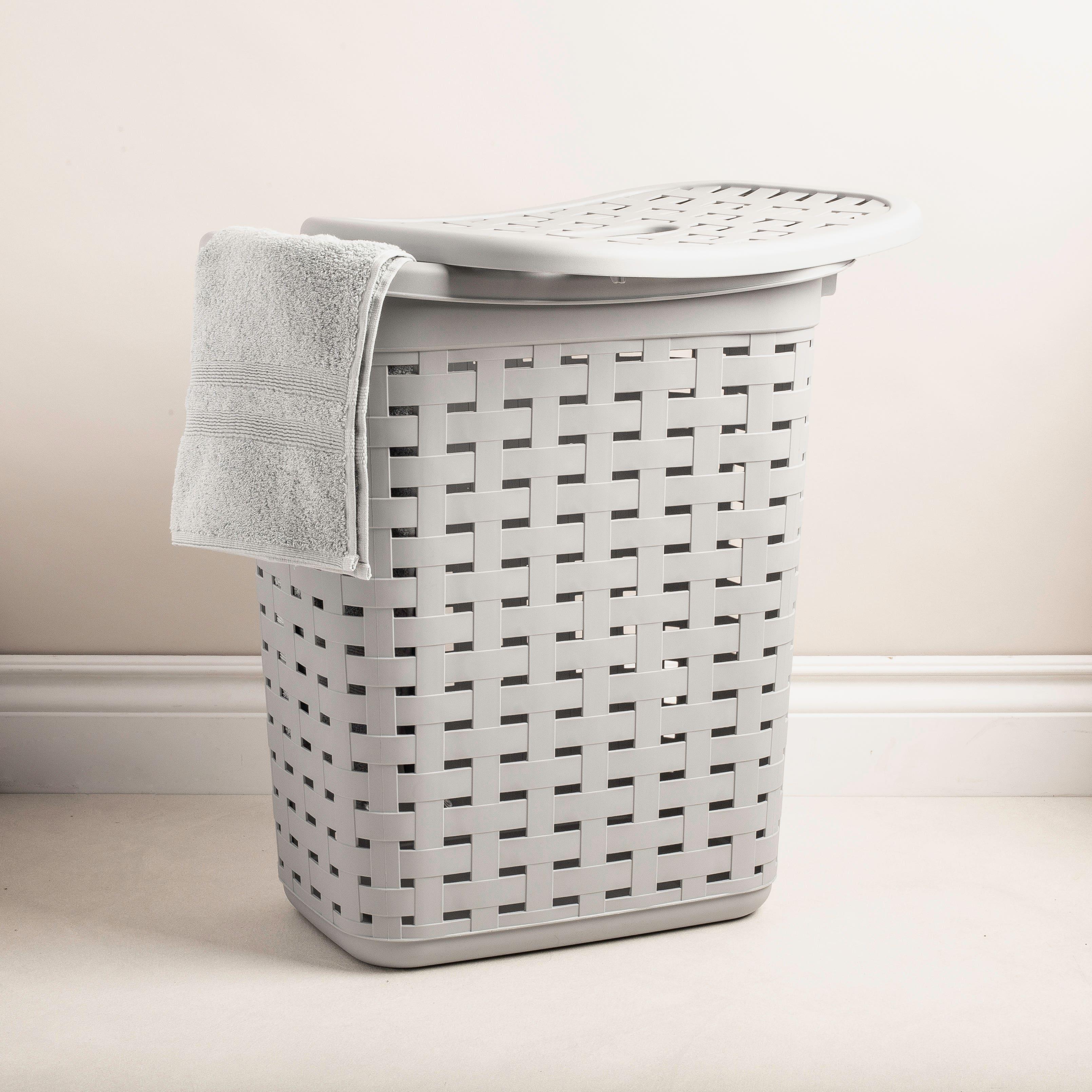 Sterilite Weave Plastic Laundry Hamper Grey Kitchen Stuff Plus