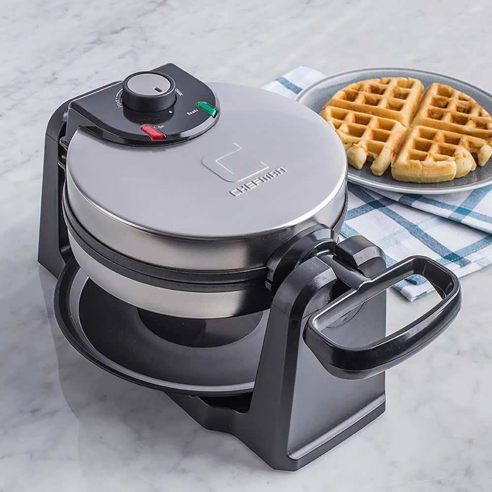 91827_Chefman_Rotating_Waffle_Maker__Black_Stainless_Steel