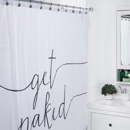 91926_Moda_At_Home_Polyester_'Get_Naked'_Shower_Curtain__Black_White