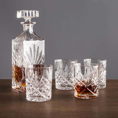 91982_Godinger_Dublin_Whiskey_Decanter_Combo___Set_of_5__Clear