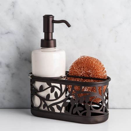92196_iDesign_Vine_Soap_Pump___Scrubby_Centre__Vanilla_Bronze