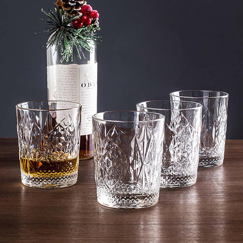 92198_Luigi_Bormioli_Italian_Table_Stories_'Stones'_Dof_Glass___Set_of_4__Clear