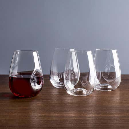92209_Trudeau_Gem_Stemless_Wine_Glass___Set_of_4__Clear