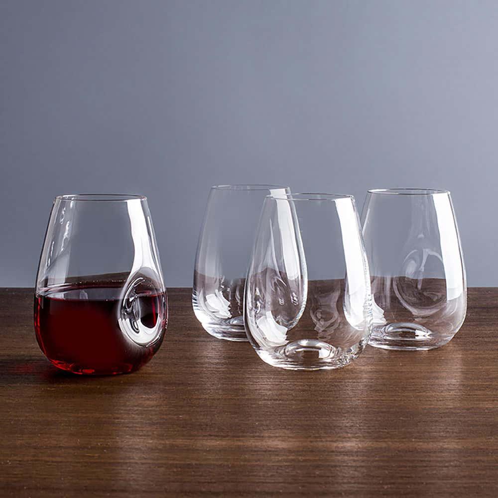 92209_Trudeau_Gem_Stemless_Wine_Glass___Set_of_4__Clear