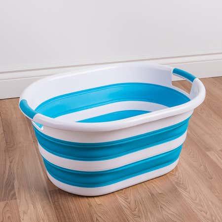 92514_KSP_Pop_N_Fold_Space_Saving_Laundry_Basket__White_Blue