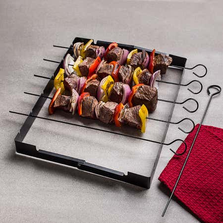 92586_KSP_Epicure_BBQ_Shish_Kabob_Skewer_with_Rack__Dark_Grey