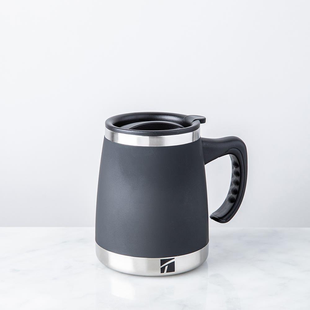 Trudeau Maison Umbria Double Wall Desk Mug (Black/Stainless Steel)