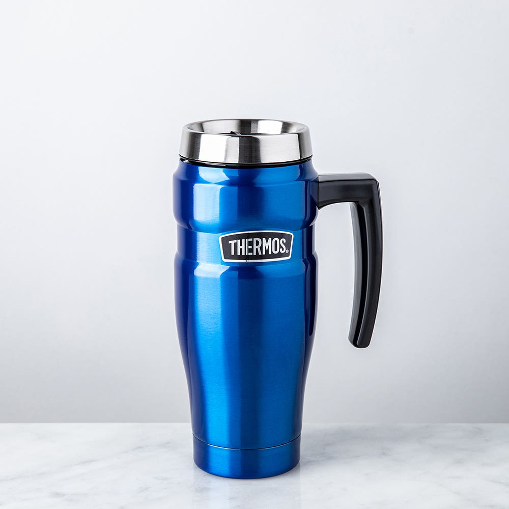 Thermos Stainless King Travel Mug with Handle (Royal Blue)