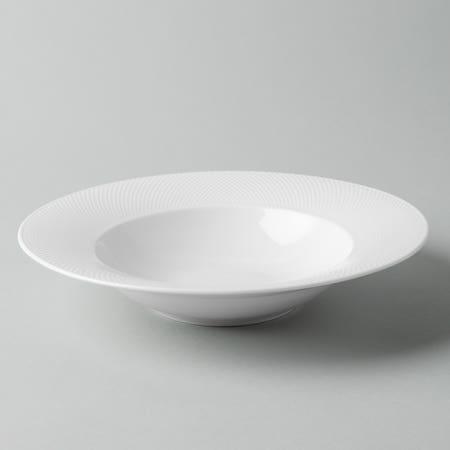 92736_KSP_A_La_Carte_'Diamond'_Porcelain_Soup__Pasta_Plate__White