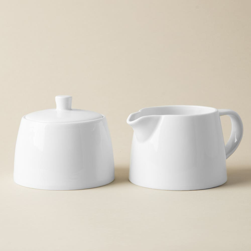 KSP A La Carte 'Oxford' Porcelain Cream & Sugar - Set of 2