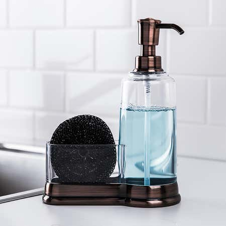 92807_KSP_Ashbury_Soap_Pump_Caddy_with_Scrubby__Copper
