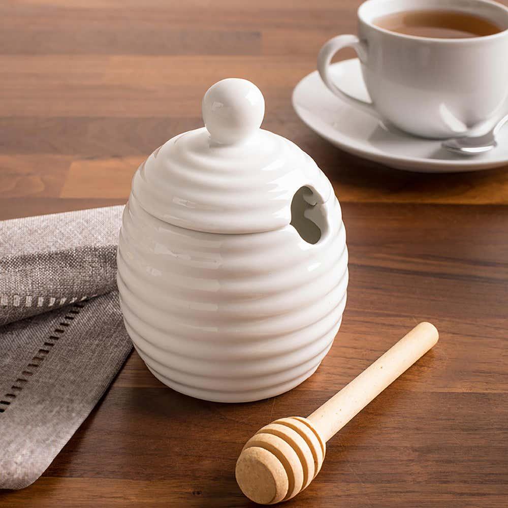 92821_KSP_Sweety_Porcelain_Honey_Jar_with_Dipper__White