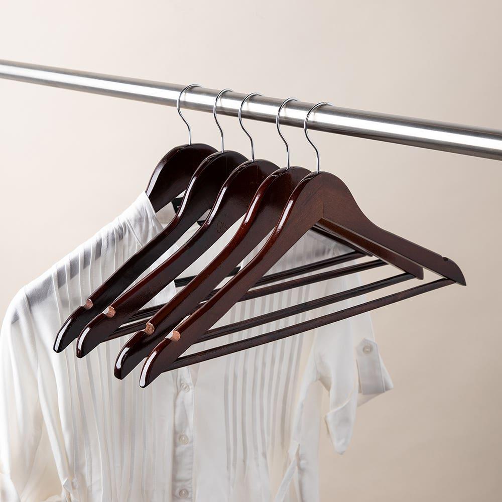 KSP Taylor Wood Hanger - Set of 5 (Brown)