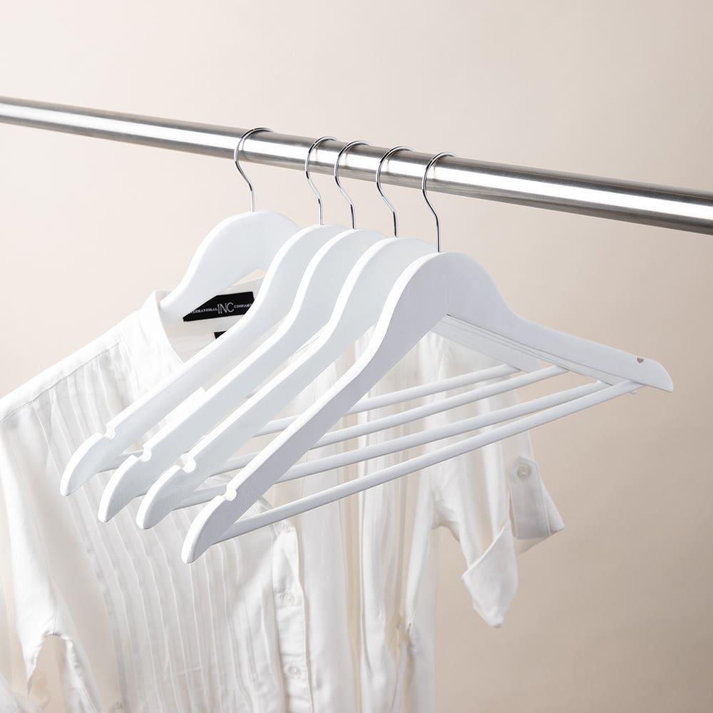 KSP Taylor Wood Hanger - Set of 5 (White)
