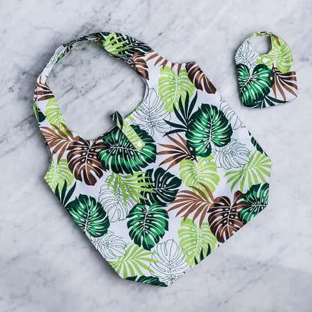 93089_KSP_Carry_'Palm_Leaf'_Shopping_Bag__Green