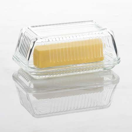 93098_Trudeau_Linea_Glass_Butter_Dish__Clear