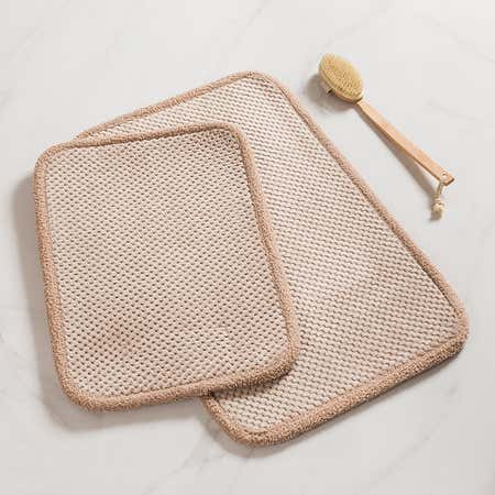 93112_Harman_Madame_Bain_Microfiber_Bathmat___Set_of_2__Beige