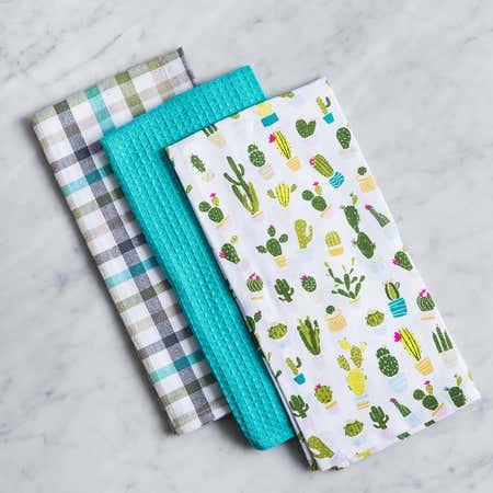 93184_Harman_Combo_'Cactus_Club'_Cotton_Kitchen_Towel___Set_of_3__White