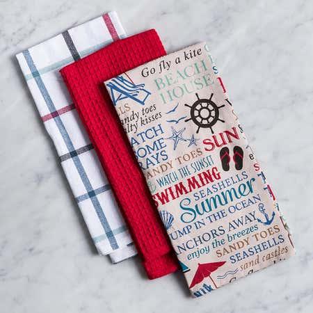 93191_Harman_'Nautical_Words'_Cotton_Kitchen_Towel_Combo___Set_of_3