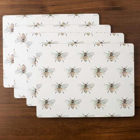 93212_Harman_'Water_Colour_Bee'_Cork_Backed_Placemat___Set_of_4