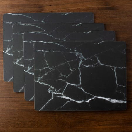 93214_Harman_'Carrara'_Cork_Backed_Placemat___Set_of_4__Black