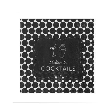Cocktail Napkin S 20 Believe