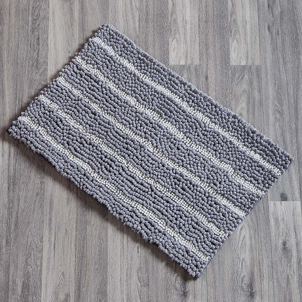 93296_KSP_Lush_'Stripes'_Chenille_Bathmat__Grey