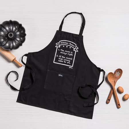 93340_Grimm_Phrase_'Kitchen_Rules'_100__Cotton_Apron__Black