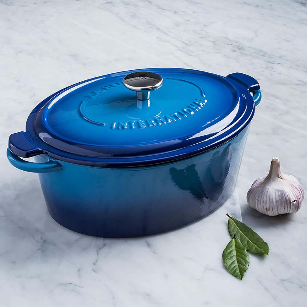 93360_Henckels_International_4_2L_Enamel_Cast_Iron_Oval_Dutch_Oven__Blue