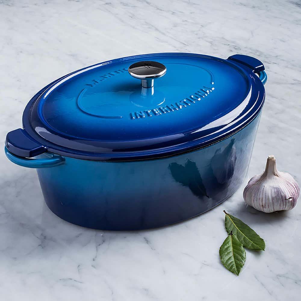 93361_Henckels_International_6L_Enamel_Cast_Iron_Oval_Dutch_Oven__Blue