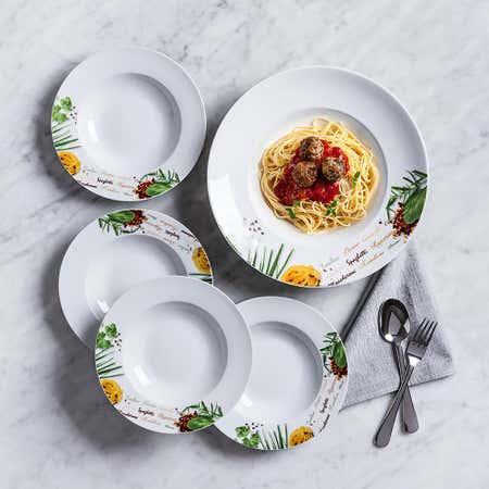 93546_KSP_Tavola_'Herbs'_Porcelain_Pasta_Bowl___Set_of_5