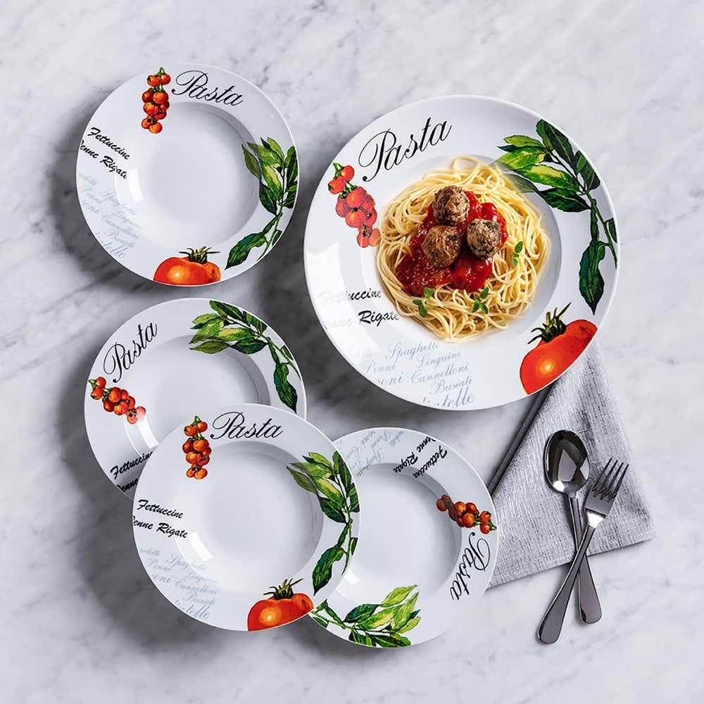 93547_KSP_Tavola_'Tomato_and_Basil'_Porcelain_Pasta_Bowl___Set_of_5
