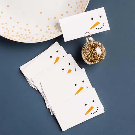 93599_Abbott_Christmas_Printed_'Snowman_Face'_Namecard___Set_of_12__Multi_Colour