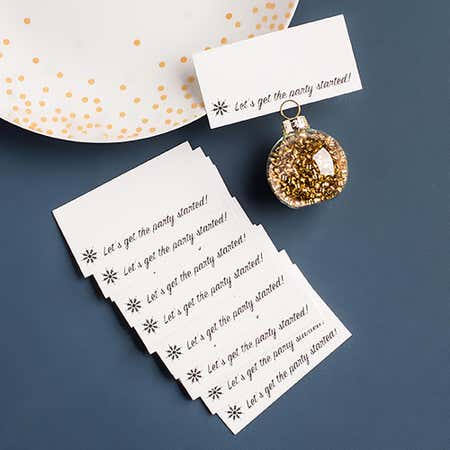 93600_Abbott_Christmas_Printed_'Get_The_Party_Started'_Namecard___Set_of_12__Silver