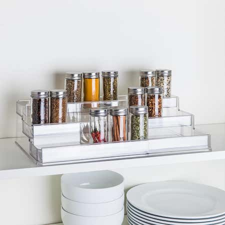 93790_iDesign_Linus_Pantry_Organizer_3_Tier_Expandable__Clear