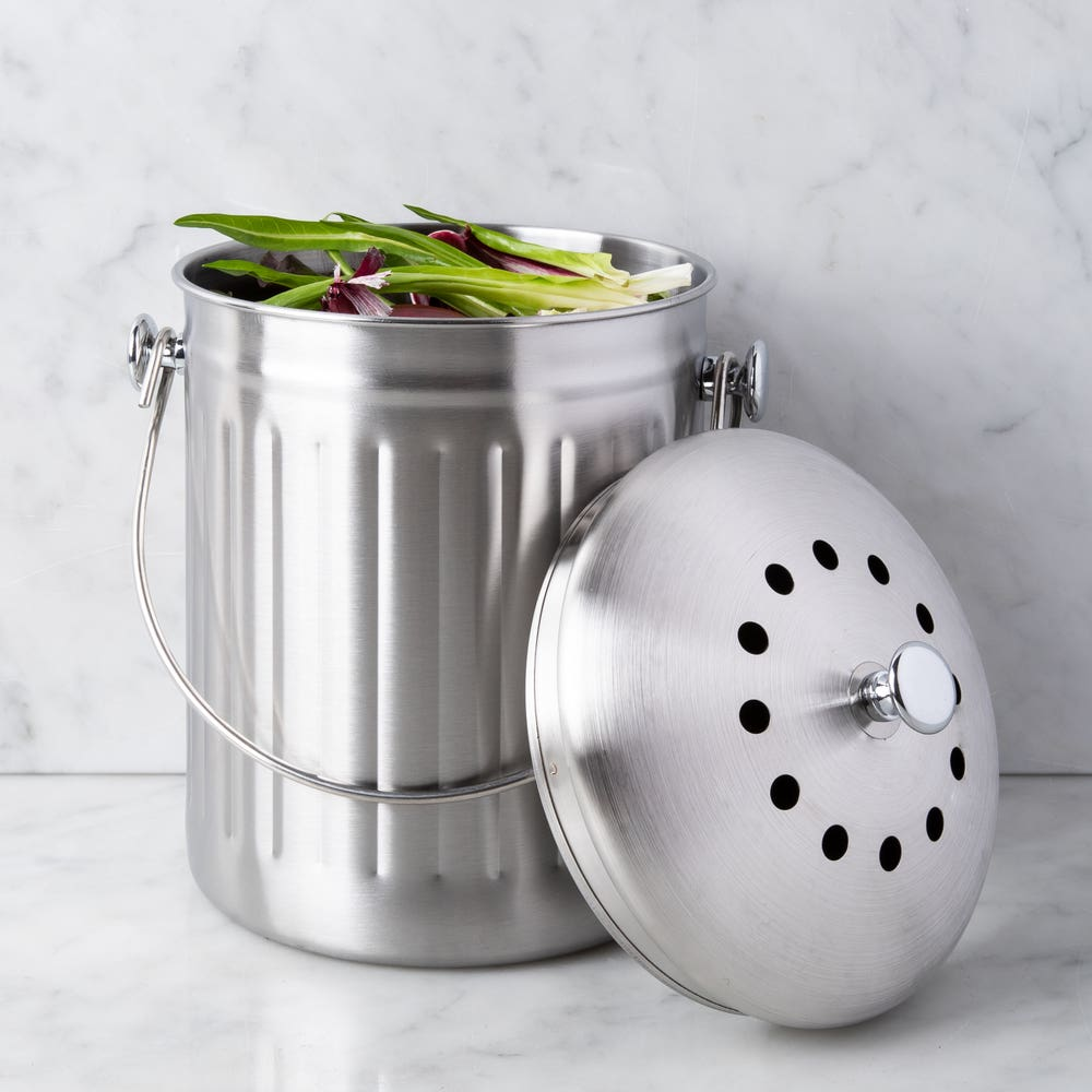 KSP Eco Metal Compost Pail (Stainless Steel)